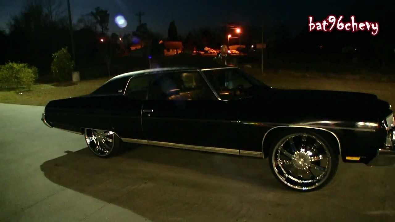 CLEAN ALL BLACK 73 Chevy Caprice Donk On 24s 1080p HD