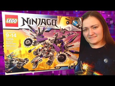 Animated LEGO Nindroid MechDragon 70725 Ninjago Flash Speed Build