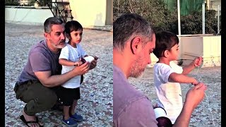 Aamir Khan And Son Azad Flying Kite - Watch Video