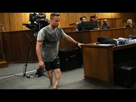 Oscar Pistorius Walks on Stumps at Hearing
