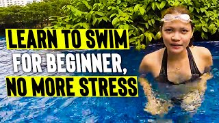 LEARN to SWIM & FLOAT for BEGINNERS (easy tutorial)
