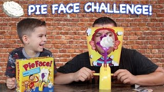 PIE FACE CHALLENGE!!! Messy Pie to the Face Game