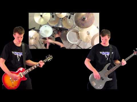 Hot For Teacher Van Halen Guitar Bass Drum Cover video