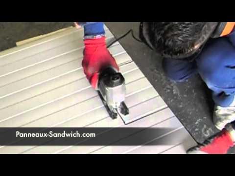 panneaux sandwich d coupe panneau sandwich youtube. Black Bedroom Furniture Sets. Home Design Ideas
