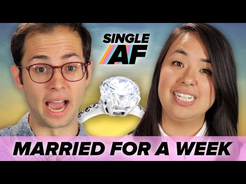 Single People Get Married For A Week • Single AF