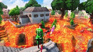FLOOR IS LAVA CHALLENGE in Fortnite Battle Royale