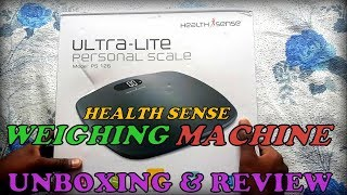 Health Sense Weighing Machine Unboxing and Review