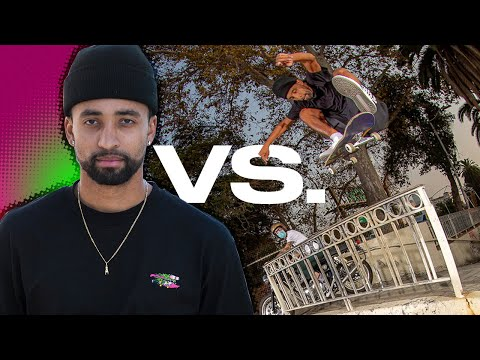 HOW DID MAURIO MCCOY FRONTSIDE FLIP THIS?! Maurio VS. His Ender! Santa Cruz Skateboards
