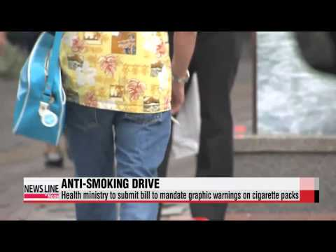 Government pushing to pass legislation to mandate picture-based health warnings of smoking