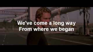 Wiz Khalifa See You Again ft Charlie Puth Lyrics Paul Walker Tribute