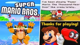 Evolution of 4th Wall Breaks in Super Mario Games (1986 - 2019)