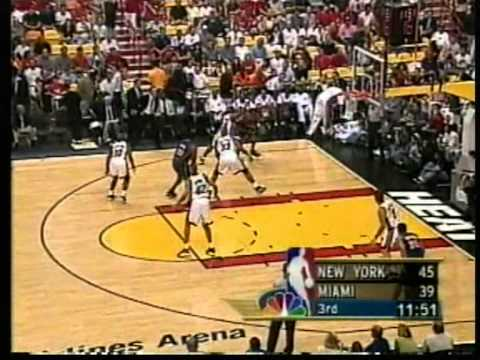 Latrell Sprewell / Pat Ewing vs Zo Mourning, playoffs 2000 knicks vs heat game 7