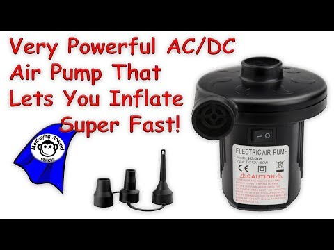 Very powerful and fast  AC / DC Quick Fill Electric Air Pump by YSD review