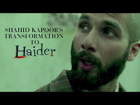 Shahid Kapoor's Transformation to Haider | Behind The Scenes |