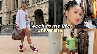 COLLEGE WEEK IN MY LIFE: what i actually wear to school, shopping, etc.