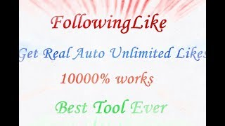 How to get real auto and unlimited LIKES on Facebook | 10000% works | 2018