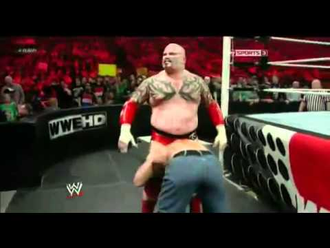Lord Tensai vs John Cena Raw 16/4/2012