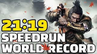 WORLD RECORD Sekiro Any% Speedrun in 21:19