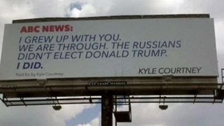 Trump supporter buys billboard, slams ABC News