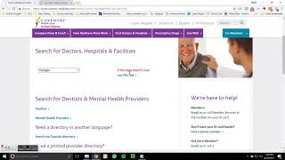 Step-by-Step How-To Provider Search: Coventry Healthcare Medicare Advantage