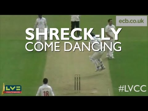 Charlie Shrek dazzles with a deft pirouette before being run out during Leicestershire's LV= County Championship game with Glamorgan.