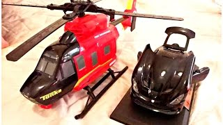 Helicopter Toy For Children - Tonka Fire Rescue Helicopter, Kinder Surprise Eggs, Christmas Presents