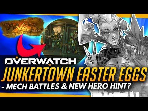Overwatch | THE JUNKERTOWN QUEEN! - MAP EASTER EGGS