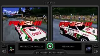 Sega Rally Championship (Arcade vs Sega Saturn) Side by Side Comparison