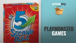 Best PlayMonster Games Prime Day Deals: PlayMonster 5 Second Rule Game - NEW EDITION