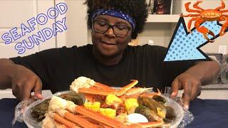 Seafood Boil MUKBANG!🦀  | Crab, HUGE Mussels | In My Feelings