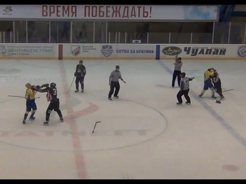 Бои МХЛ 👊 Матч «Спутник» - «Челны» закончился массовой дракой