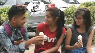 Eating Cute Girl's Ice Cream With A Twist By Desi Boy   Ice Cream Prank Gone Wrong In India