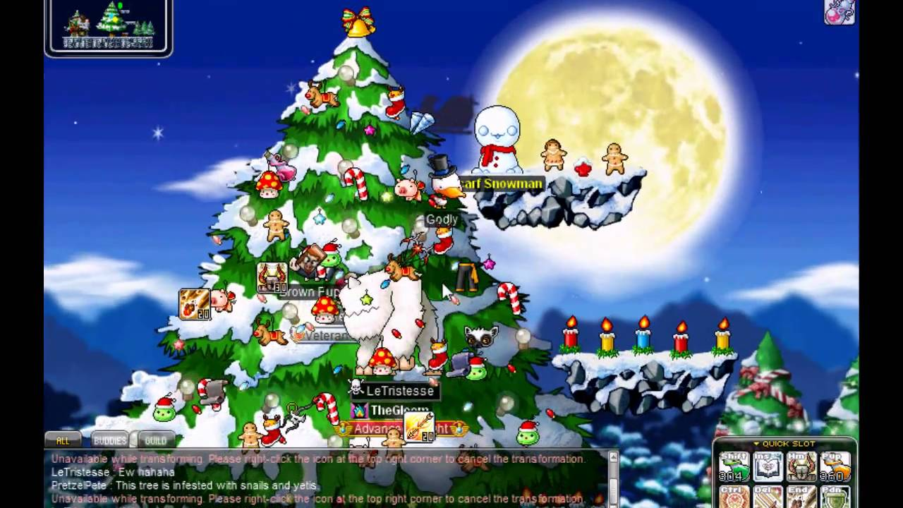 MapleStory - GMS - Mardia - Christmas Event 2010 - Tree Decorating ...