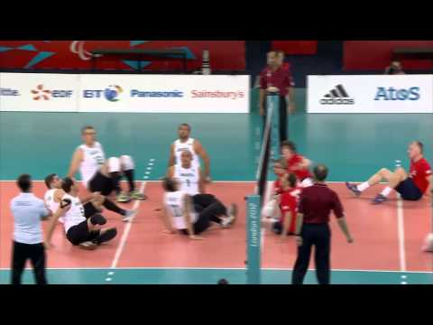 Sitting volleyball (men) - Brazil v Great Britain - London 2012 Paralympic Games