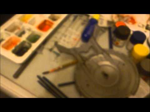 Star Trek Polar Lights 1/1000 Scale NX-01 Enterprise Model Kit Build Part 1: Paint by Trekkie2409