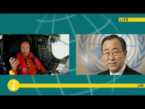 Live conversation between UN Secretary-General Ban Ki-moon and Bertrand Piccard