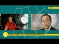 Live discussion between UN Secretary-General Ban Ki-moon and Bertrand Piccard