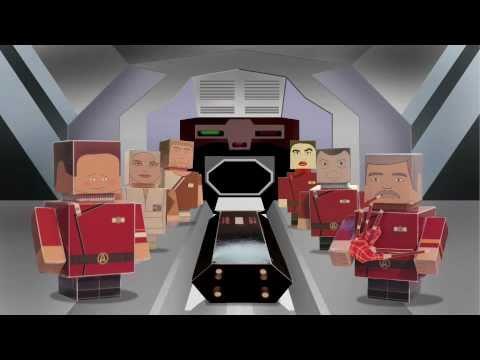 Stark Trek II recreado con figuras de cartón