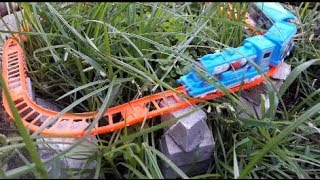 Make Risky Toy Rail Line! Kids Toy Train Video