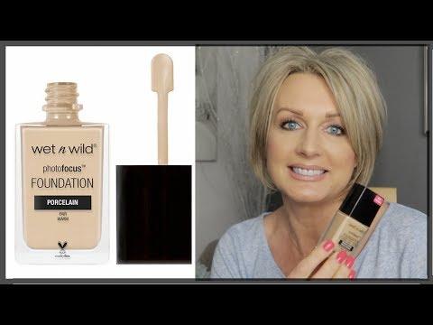 Wet n Wild Photo Focus Foundation - Demo & First Impressions (Mature Skin)