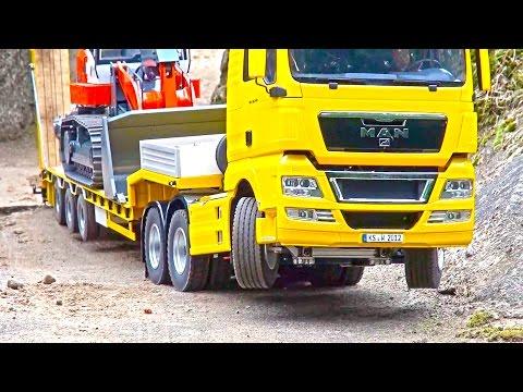 Heavy LOAD on Goldhofer! BIG RC Truck Action! Hook-Lifter! Volvo! MAN! Scania! MB Arocs!