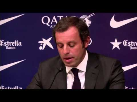 Sandro Rosell resigns as Barcelona president -- video