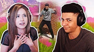 Myth Reacts to Pokimane Watching Him Dance!   Fortnite Best Moments #16