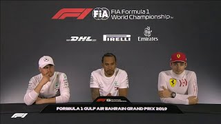 F1 2019 Bahrain - Post-Race Press Conference