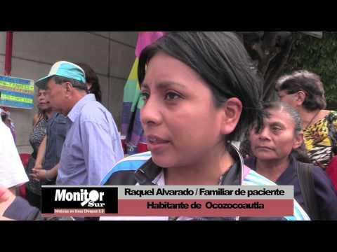Protestan médicos y enfermeras en Hospital de Tuxtla Gutiérrez