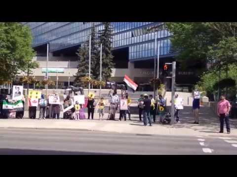Protest: Fake Presidential Elections in Egypt & Syria in Calgary AB,Canada