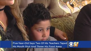 5-Year-Old Claims Teachers Taped Mouth Shut, Threw Out Lunch