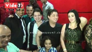 بالفيديو.. صافيناز والليثى وكريم محمود عبد العزيز والساحر فى احتفال فيلم