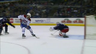 Drouin goes top shelf with backhand to score on breakaway