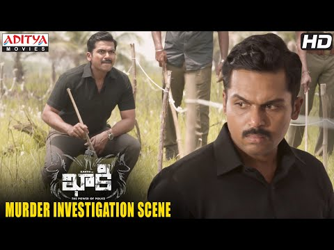 Khakee Movie Scenes   Karthi Murder Investigation Scene   Kharthi, Rakul   H.Vinoth